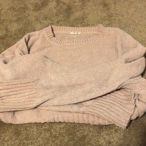 Velvet sweater.
